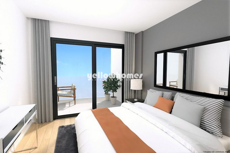 New built, modern T2 apartments only 50m from the beach near Quarteira